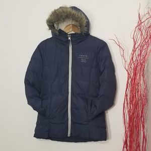 Camps United | Mademoiselle Hooded Coat Navy Blue